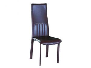 SILLA DC822 MARRON METAL+PVC